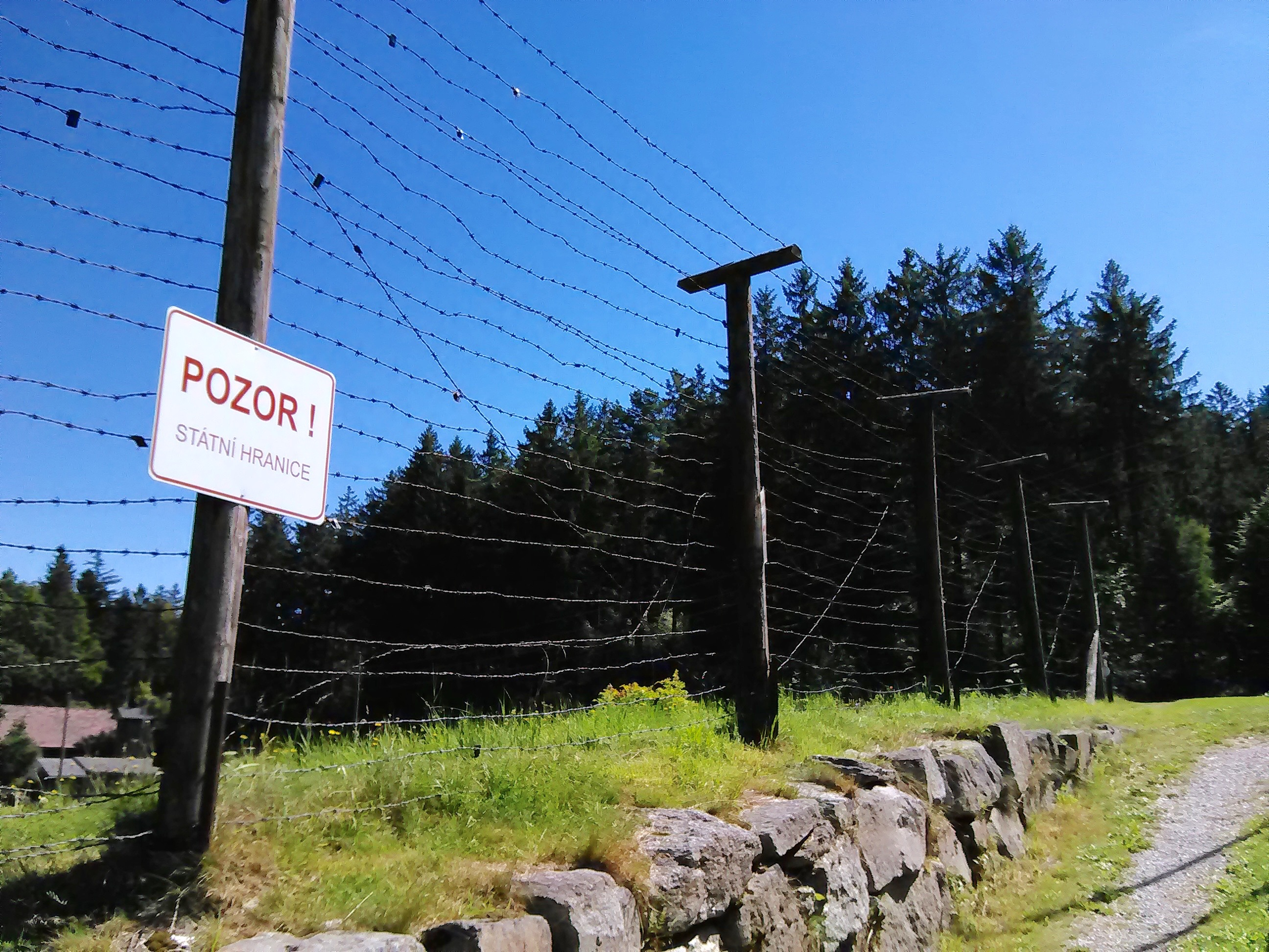 Iron Curtain Barbwire Fence